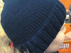 Вяжем мужскую шапку спицами. Мастер-класс для новичков. Ярмарка Мастеров - ручная работа, handmade.