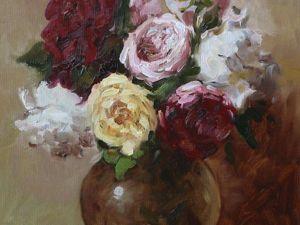 Видео мастер-класс: рисуем картину «Розы в стеклянной вазе». Ярмарка Мастеров - ручная работа, handmade.