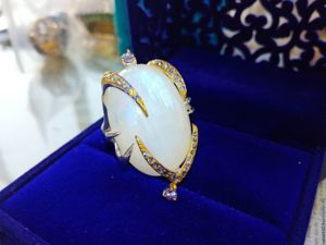 Видео! Кольцо  «Селена»  с лунным камнем и танзанитами. Ярмарка Мастеров - ручная работа, handmade.