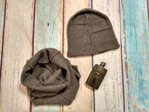 Вяжем шапку и снуд со швами наружу. Ярмарка Мастеров - ручная работа, handmade.
