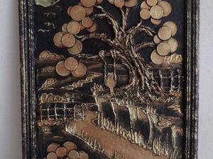 Создаем картину с денежным деревом. Ярмарка Мастеров - ручная работа, handmade.