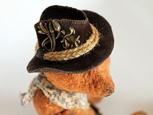 Шьем ковбойскую шляпу для мишки или куклы. Ярмарка Мастеров - ручная работа, handmade.