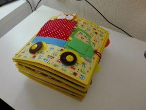 Развивающая книга с рыжим котом на обложке. Ярмарка Мастеров - ручная работа, handmade.