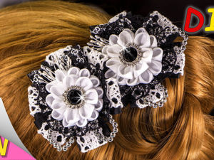 Делаем школьные заколки для волос в стиле «канзаши». Ярмарка Мастеров - ручная работа, handmade.
