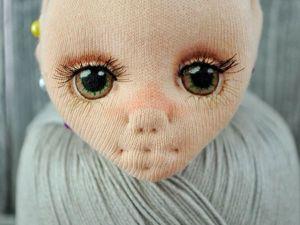 Рисуем глазки текстильной куколке. Ярмарка Мастеров - ручная работа, handmade.
