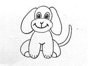 Видеоурок для детей: как нарисовать собаку. Ярмарка Мастеров - ручная работа, handmade.