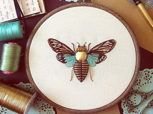 Nobby Cannetille: Amazing Embroidery by Humayrah Poppins. Livemaster - handmade