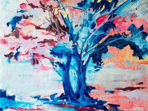 Пишем картину «Осень» в технике абстрактная живопись. Ярмарка Мастеров - ручная работа, handmade.