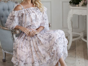Видео-ролик, платье  «Дуновение ветерка». Ярмарка Мастеров - ручная работа, handmade.