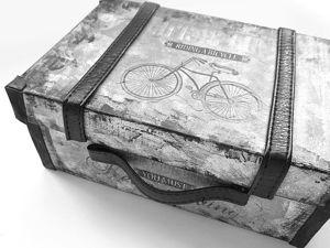 Декорируем обувную коробку под чемоданчик. Ярмарка Мастеров - ручная работа, handmade.