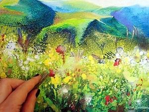 Мастер-класс по живописи: пастель, гуашь и сухоцветы — мой эксперимент. Ярмарка Мастеров - ручная работа, handmade.