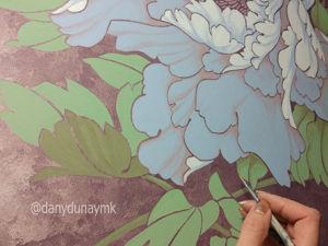 Учимся технике росписи по трафарету Пион. Ярмарка Мастеров - ручная работа, handmade.