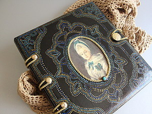 Превращаем обычный фотоальбом в оригинальный альбом ручной работы. Ярмарка Мастеров - ручная работа, handmade.