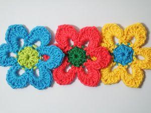 Как связать простой цветок крючком для начинающих. Ярмарка Мастеров - ручная работа, handmade.