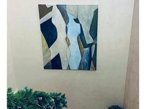 Картина фигур в интерьере нашей заказчицы. Ярмарка Мастеров - ручная работа, handmade.