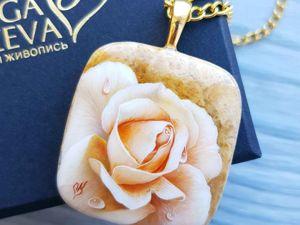 Видео кулона  «Золотая роза». Ярмарка Мастеров - ручная работа, handmade.