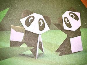 Оригами: делаем фигурки животных – Львицы Чина и Панды Тики. Ярмарка Мастеров - ручная работа, handmade.