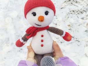 Вяжем Снеговика крючком. Ярмарка Мастеров - ручная работа, handmade.