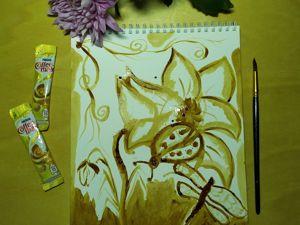 Рисунок из кофе: видеоурок. Ярмарка Мастеров - ручная работа, handmade.