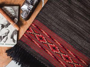 -10% на однотонные палантины с вышивкой по кайме (расцветка-насыщенный черный). Ярмарка Мастеров - ручная работа, handmade.