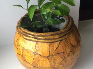 Making Flower Pot of Cement: Marble Imitation. Livemaster - handmade