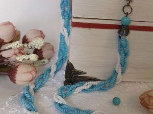 Создаем оригинальные крученые бусы из бисера. Ярмарка Мастеров - ручная работа, handmade.