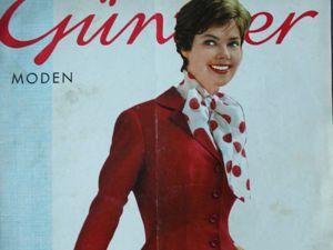 Gunther Moden -старый журнал мод- 2/ 1958. Ярмарка Мастеров - ручная работа, handmade.