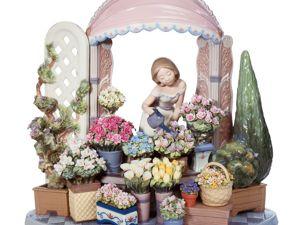 Женщины и цветы в фарфоровых миниатюрах. Ярмарка Мастеров - ручная работа, handmade.