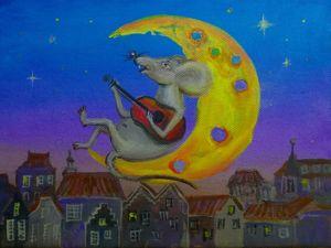 Рисуем символ года 2020. Мышонок с гитарой. Ярмарка Мастеров - ручная работа, handmade.