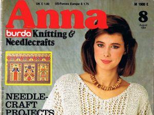 Журнал Anna № 8/1984. Фото работ. Ярмарка Мастеров - ручная работа, handmade.