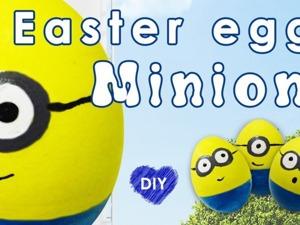 """Видео мастер-класс: делаем пасхальные яйца """"Миньоны"""". Ярмарка Мастеров - ручная работа, handmade."""