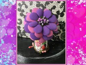 Мастерим цветок из фоамирана: видеоурок для начинающих. Ярмарка Мастеров - ручная работа, handmade.