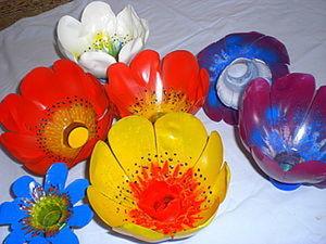 Вторая жизнь пластика 2. Цветы.. Ярмарка Мастеров - ручная работа, handmade.