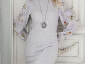 Аукцион на очаровательное вязаное платьице! Старт 2500 руб.!. Ярмарка Мастеров - ручная работа, handmade.
