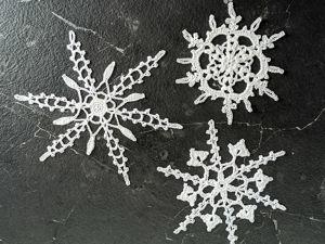 Великолепные снежинки крючком. Ярмарка Мастеров - ручная работа, handmade.