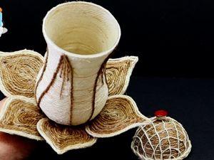 Как сделать шкатулку из джута и бокала. Ярмарка Мастеров - ручная работа, handmade.