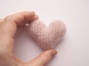 Вяжем сердечко спицами. Ярмарка Мастеров - ручная работа, handmade.
