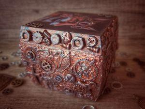 Шкатулка в стиле стимпанк. Ярмарка Мастеров - ручная работа, handmade.
