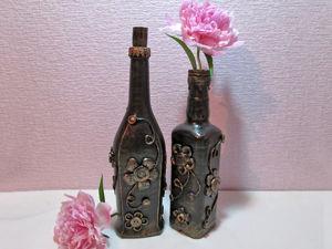 Видео мастер-класс: декорируем бутылки обыкновенными пуговицами. Ярмарка Мастеров - ручная работа, handmade.