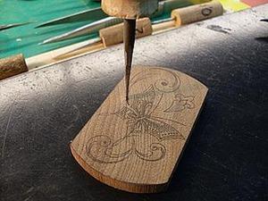 Секреты тульской всечки. Урок 2: технология прорезания лунки. Ярмарка Мастеров - ручная работа, handmade.
