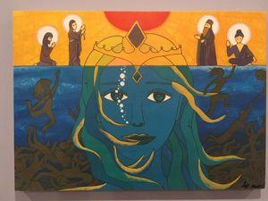 Комментарий к картине  «Дышать под водой». Ярмарка Мастеров - ручная работа, handmade.