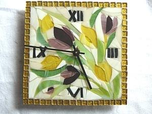 "Часики ""ВЕСНА"" в технике мозаики.. Ярмарка Мастеров - ручная работа, handmade."