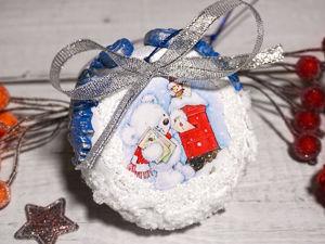 Делаем новогоднюю игрушку. Новогодний декор своими руками. Ярмарка Мастеров - ручная работа, handmade.