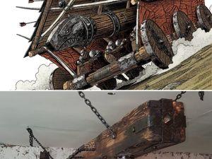 Изготавливаем люстру «Таран» в средневековом стиле. Ярмарка Мастеров - ручная работа, handmade.