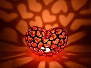 """Подсвечник """"горящее сердце"""". часть 2. прорезка. Ярмарка Мастеров - ручная работа, handmade."""