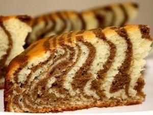 Пирог «Зебра» на кефире и растительном масле.  Вкусно и просто !!!. Ярмарка Мастеров - ручная работа, handmade.