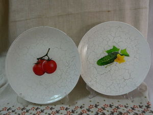 Decorating Vegetable Plates with the Backside Decoupage Technique. Livemaster - handmade