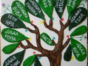Как легко сделать семейное дерево своими руками. Ярмарка Мастеров - ручная работа, handmade.
