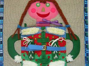 Кукла Застежки-Одежки. Ярмарка Мастеров - ручная работа, handmade.