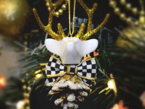 Делаем игрушку на ёлку «Лесной олень» 2-я Часть. Ярмарка Мастеров - ручная работа, handmade.